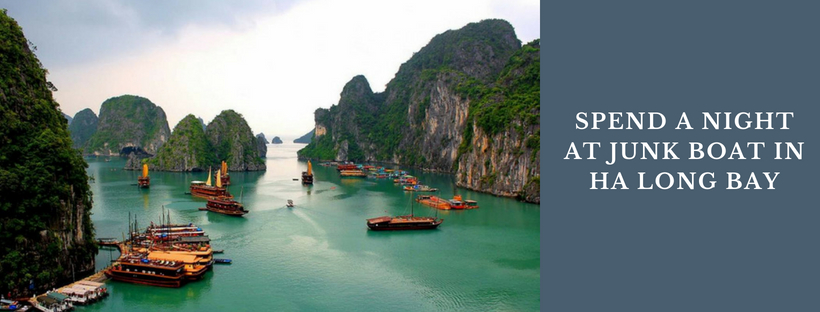 Take an overnight cruise in Halong Bay