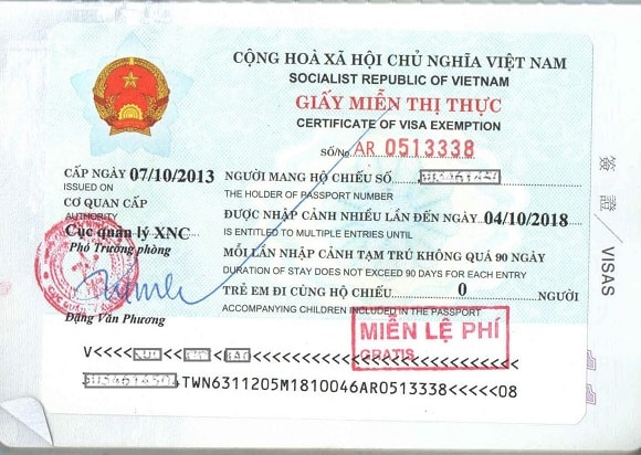 5 year Vietnam visa in Thailand