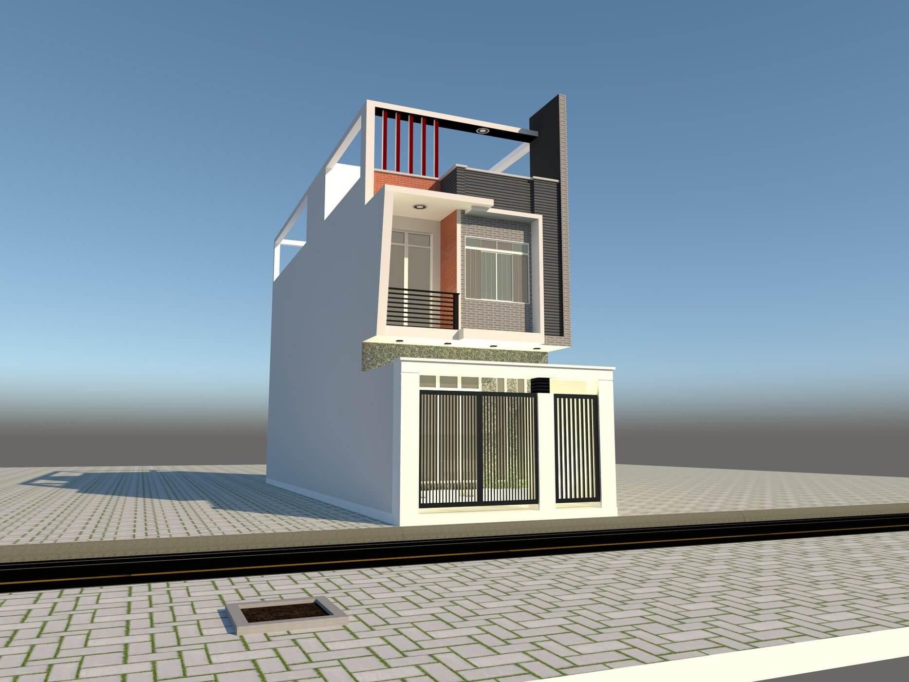 nhà ống mái thái 1 tầng